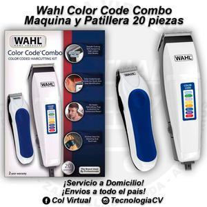 Combo Maquina y Patillera 20 piezas Wahl Color Code Combo