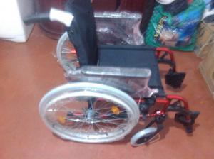 Silla de ruedas de aluminio plegable multiajustable breezy