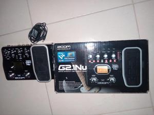Zoom G2.1nu Pedal Multiefectos Con Interfaz De Audio Usb