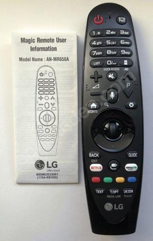 CONTROL REMOTE PARA TV LG  ANMR650A