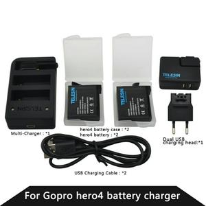 Cargador Doble Gopro Hero 4 con Dos Baterías de Repuesto