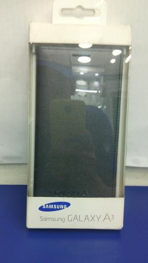 Flip Cover Original Samsung A3 Negro