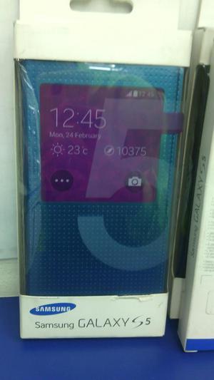 Flip Cover Original Samsung S5 Azul