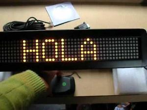 VENDO AVISOS LED PROGRAMABLES CON MOVIMIENTO DE 68 CMTRS X