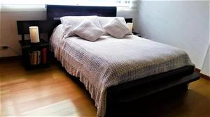vendo cama doble madera maciza rustica