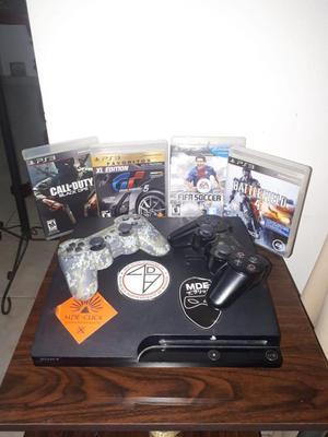 PS3 SLIM 2 CONTROLES 4 PELICULAS