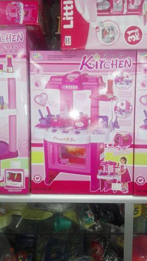 Juguete Cocina Infantil Completa Niñas Luces Y Sonido