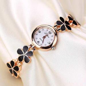 Reloj Para Mujer Acero Flor Oro Rosa - Detal Y Por Mayor