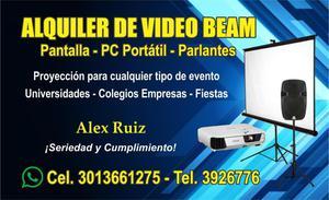 ALQUILER DE VIDEO BEAM, TELON, TELEVISOR, SONIDO. EN SOLEDAD