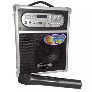 Cabina Sonivox  De 400w Bluetooth Fm Microfono Karaoke