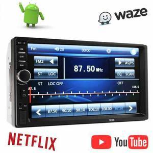 Radio Carro Mp5 Pantalla Tactil Bluetooth 7 Usb Doble Din