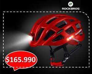 CASCO BICICLETA ROCKBROS!!! aerodinámico con iluminación