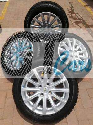 Juego De Rines Y Llantas Originales Chevrolet Sail / Cobalt