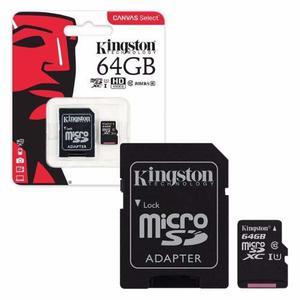Memoria Micro Sd Kingston 64gb Clase 10 80mb Sutiendaonline