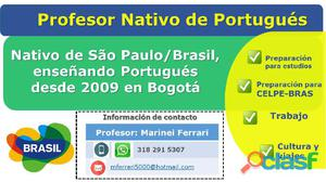 Profesor Nativo de Portugués en Bogotá