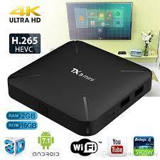 TV BOX ANDROID 4K SMART TV CON 1GB RAM 16 GB INTERNOS
