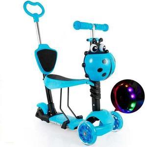Patineta Scooter Monopatín Triciclo Caminador Con Luces Led