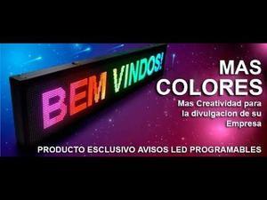 VENDEMOS AVISOS LED PROGRAMABLES CON MOVIMIENTO DE 1 MTR X