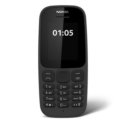 Celular Nokia 105, Linterna, Radio Fm, 100% Original, Negro
