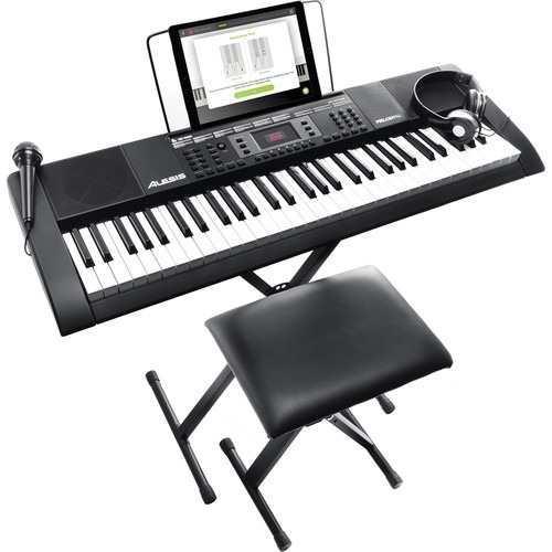 Kit Teclado Musical Alesis Melody 61 +silla+microf Organeta