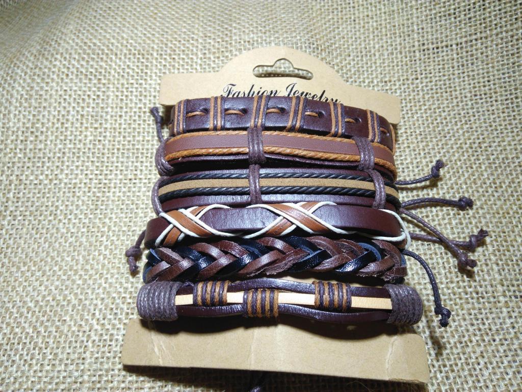 pulsera de cuero brazalete manilla cuero