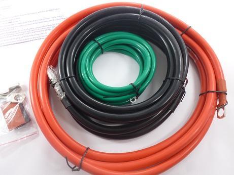 Inversores, Kit Cables Trabajo Pesado, Marca Cobra Awg 4