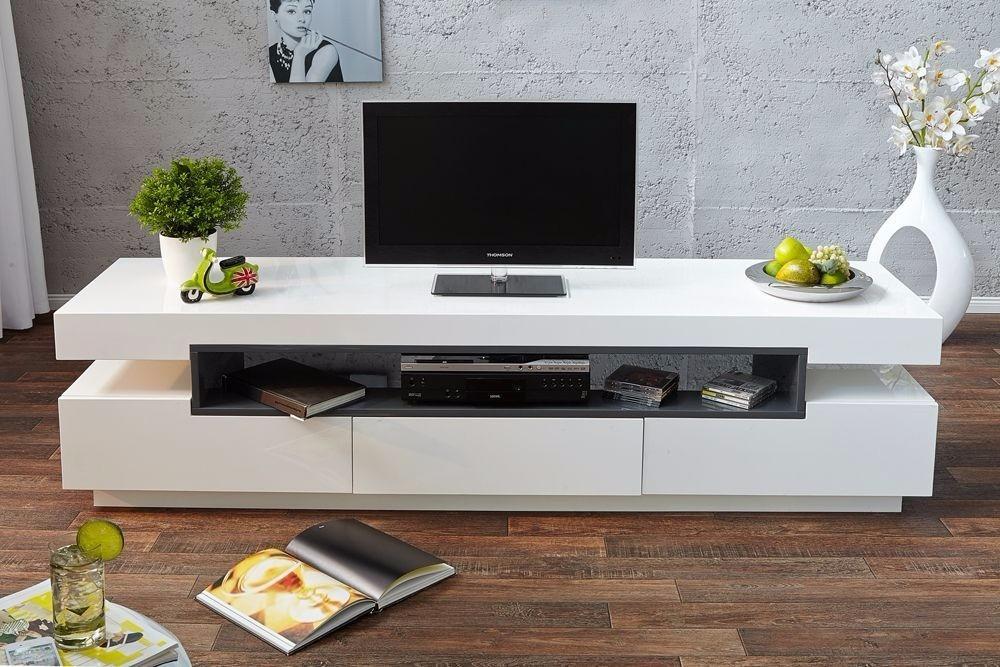 Mesa de Televisión diseño moderno en madera lacada Ref: