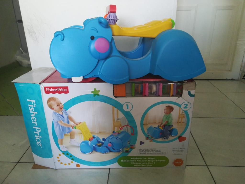 Andador Hipopotamo 3 en 1 Traga Bloques
