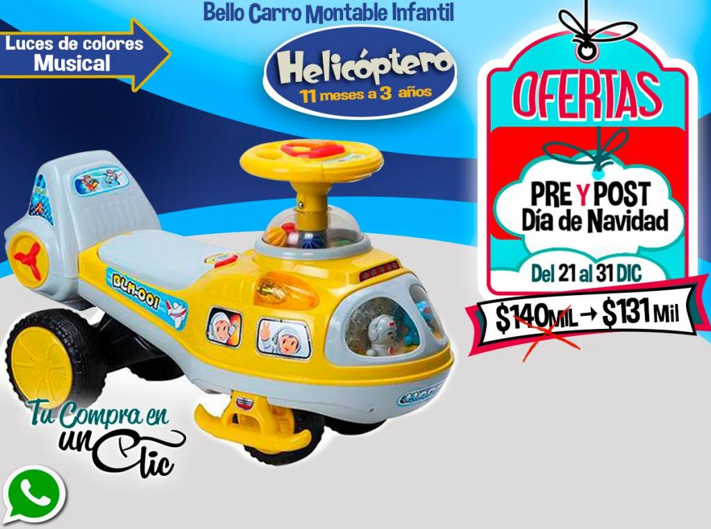 CARRO MONTABLE INFANTIL, LUCES de colores,MUSICAL,9meses a 3