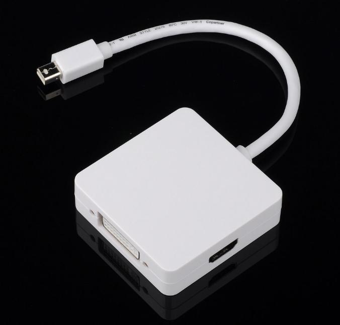 Adaptador Mini Display Port Thunderbold a HDMI VGA DVI 3 en