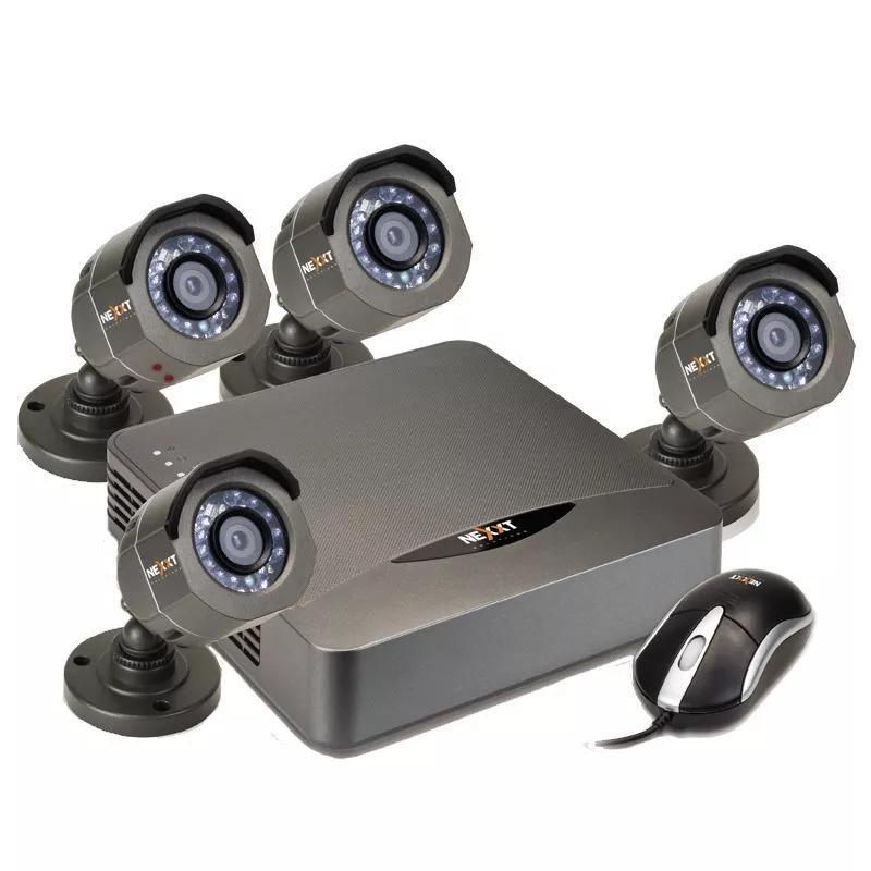 Kit de 4 Camaras De Seguridad Metalicas Hd 1 Megapixel 720p