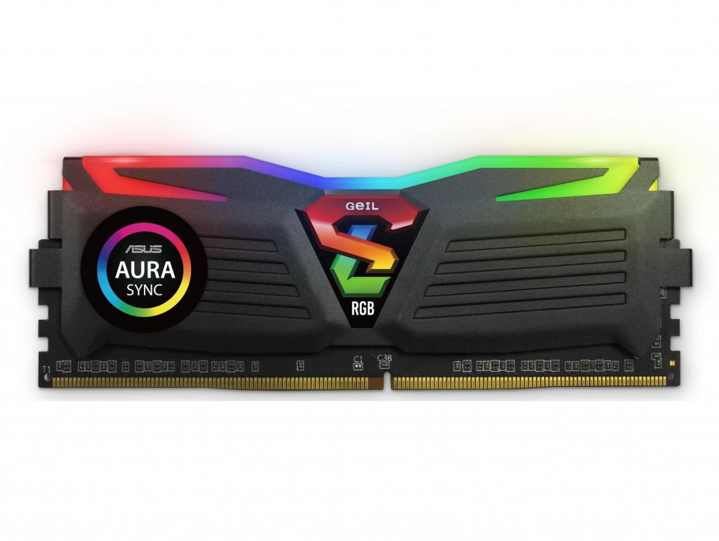 MEMORIAS RAM DE 8GB A MHZ DDR4 GEIL SUPER LUCE RGB