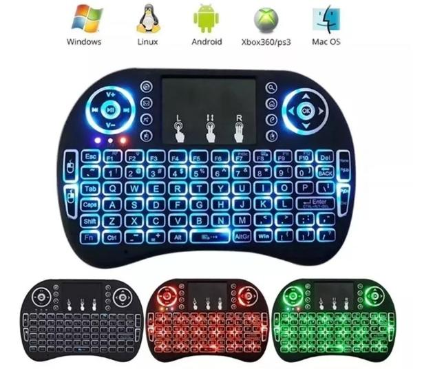 Teclado Mouse Táctil Inalámbrico Para Smart Tv Box Pc