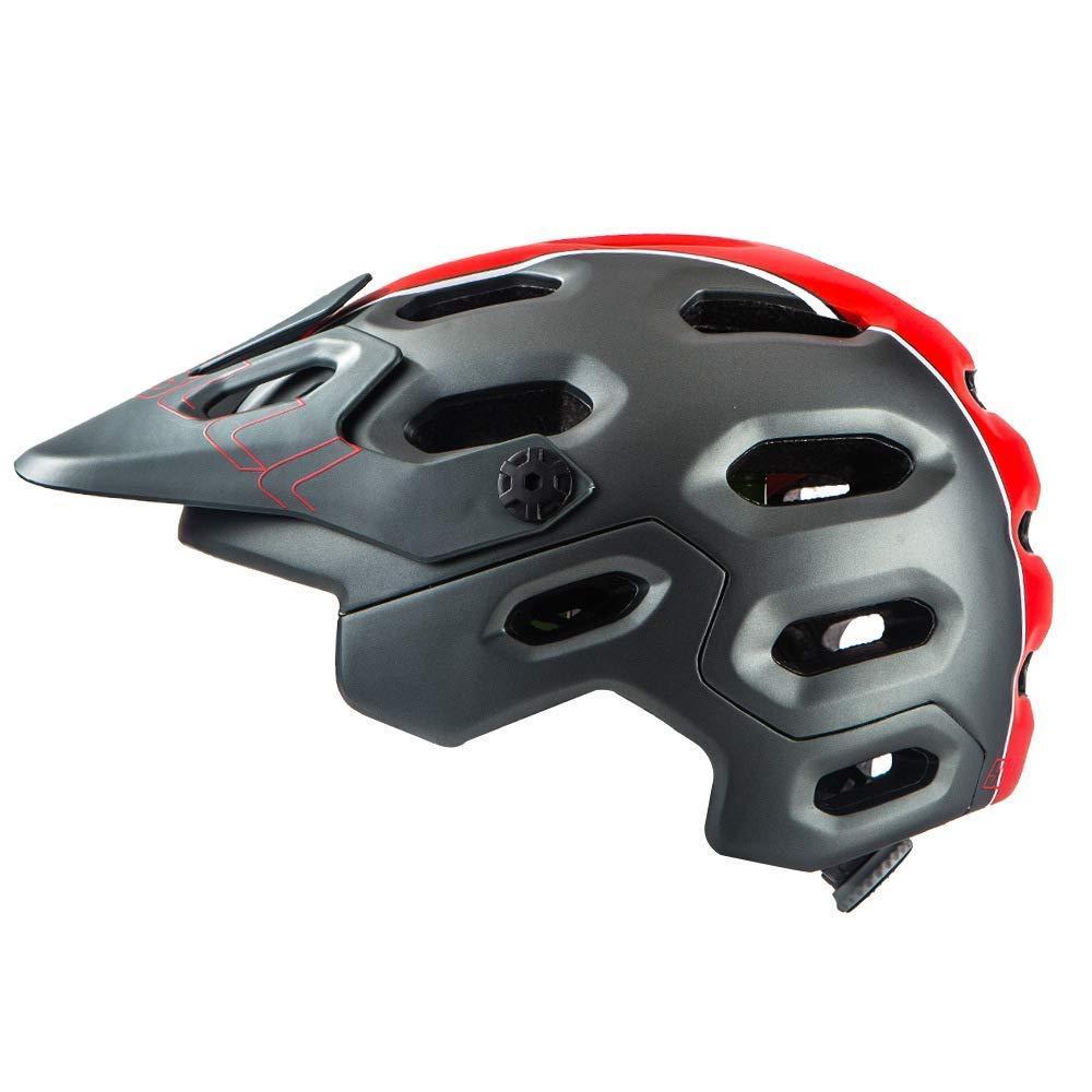 Casco Bicicleta MTB Super Cross Gris/Franja Roja Cairbull