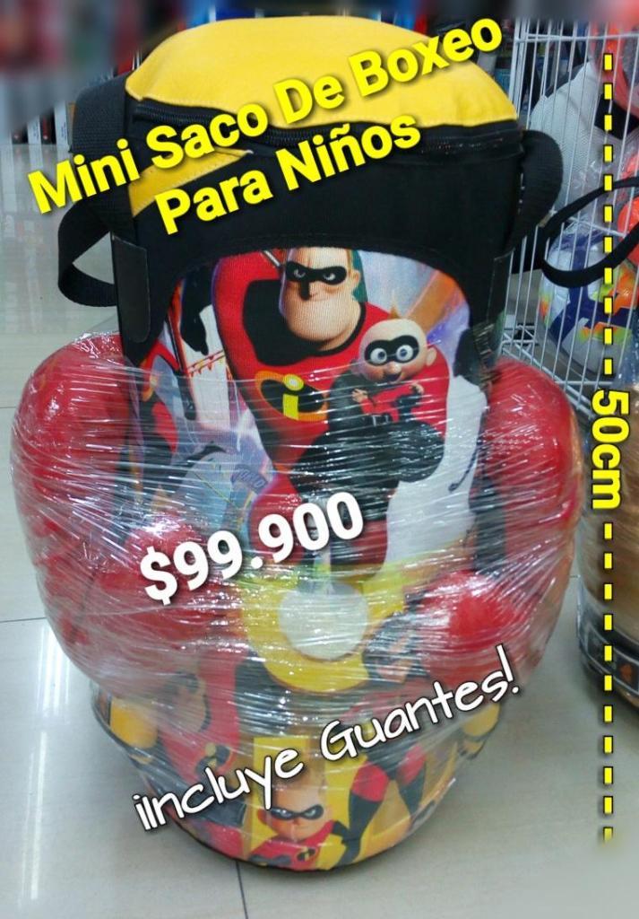 MINI SACO DE BOXEO PARA NIÑOS 50CM