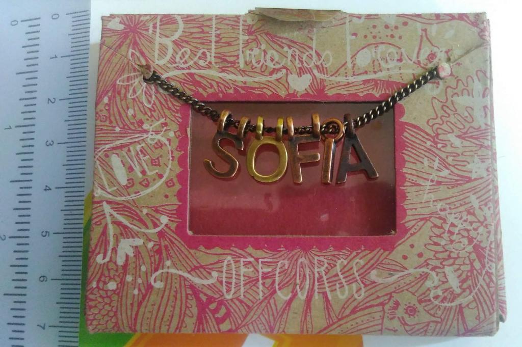 Collar de letras dije personalizable perfecto regalo NUEVO