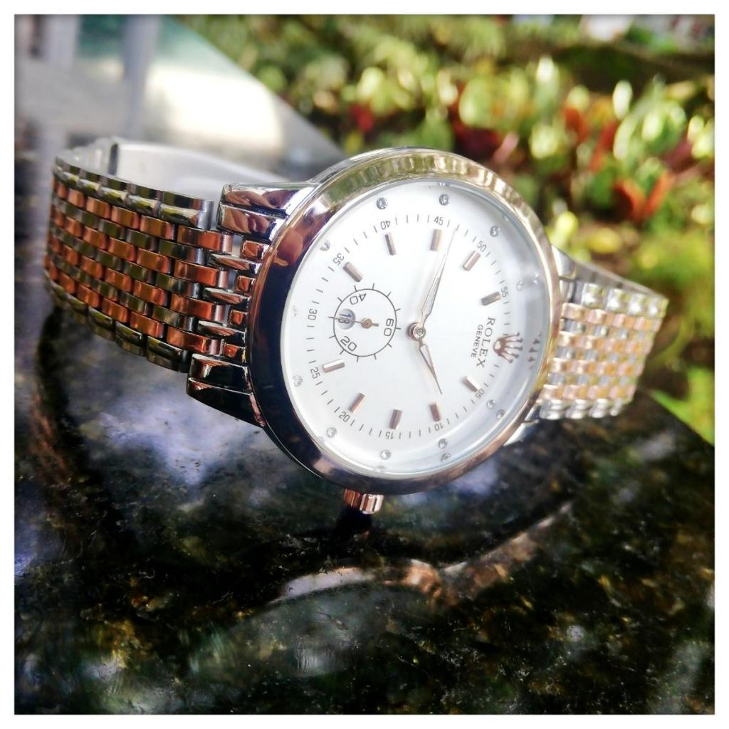 Venta De Reloj Rolex Bicolor Panel Blanco Para Caballero