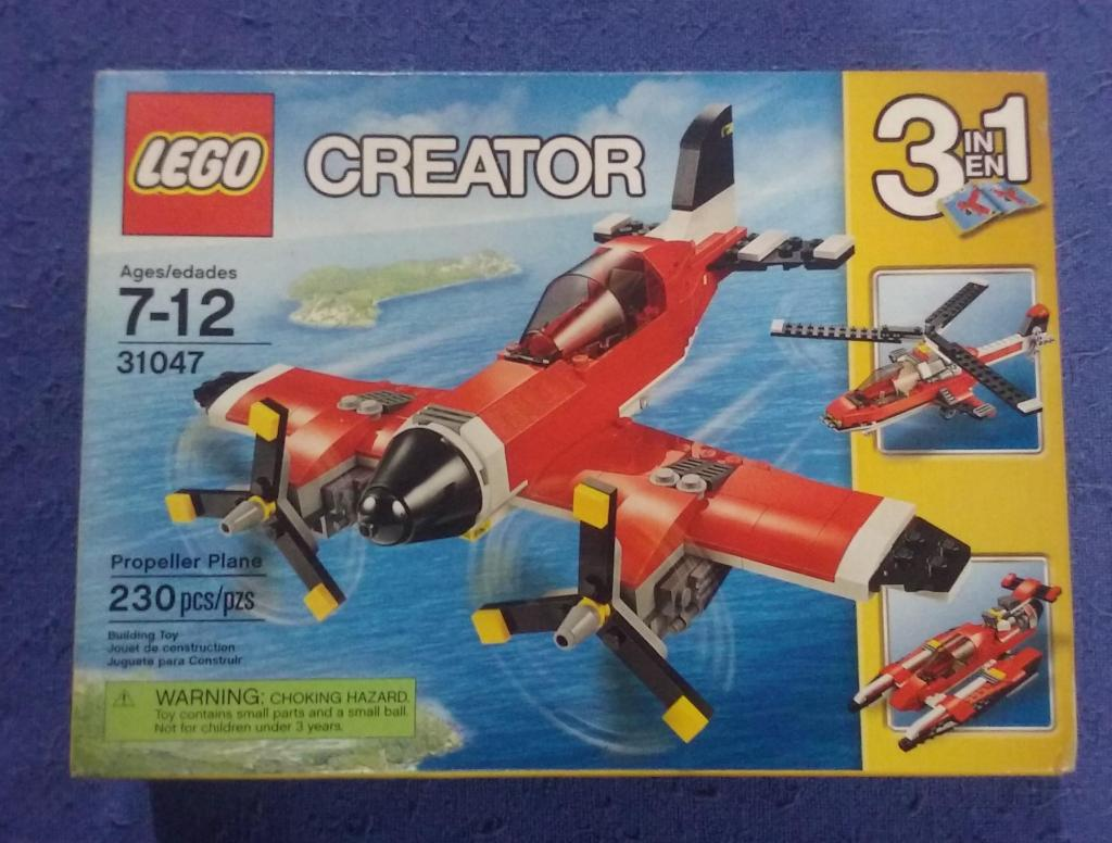 Lego Creator 3 en 1. Avión Helicóptero Lancha. Nuevo