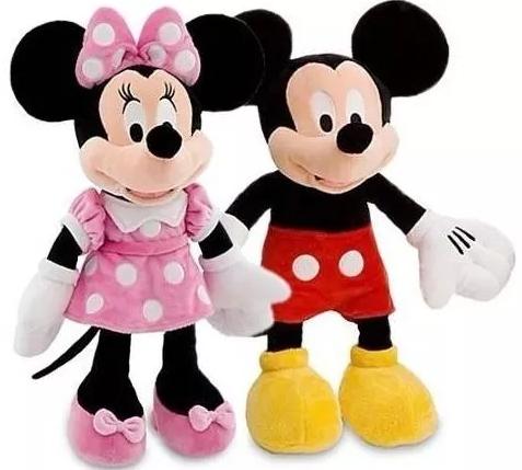 Pareja Mickey Mouse Y Minnie Peluche 50cm Set X2