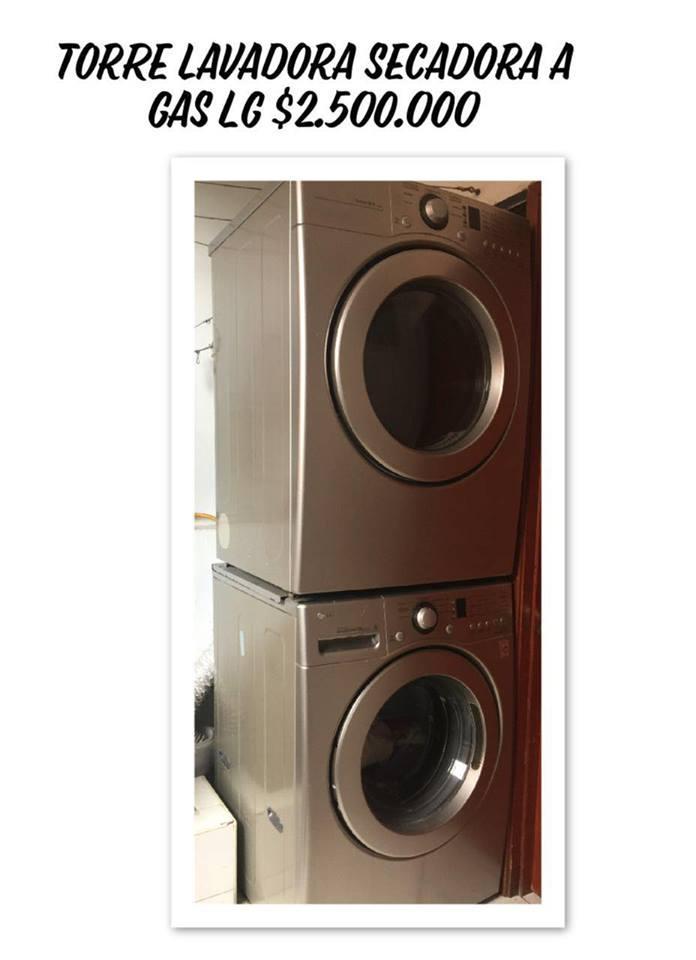 Torre de Lavadora y secadora LG de 33 libras