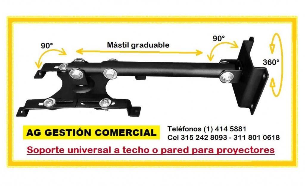 Base video beam Soporte para proyector a techo o pared, Cel