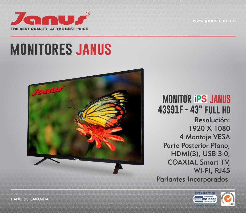 MONITOR TV JANUS LED 50 J504KSH / 4K / SMART
