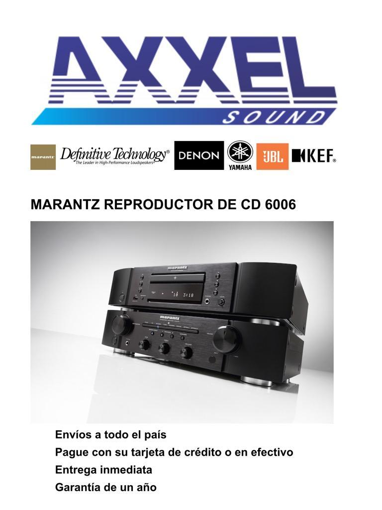 Marantz CD  Reproductor de Cd
