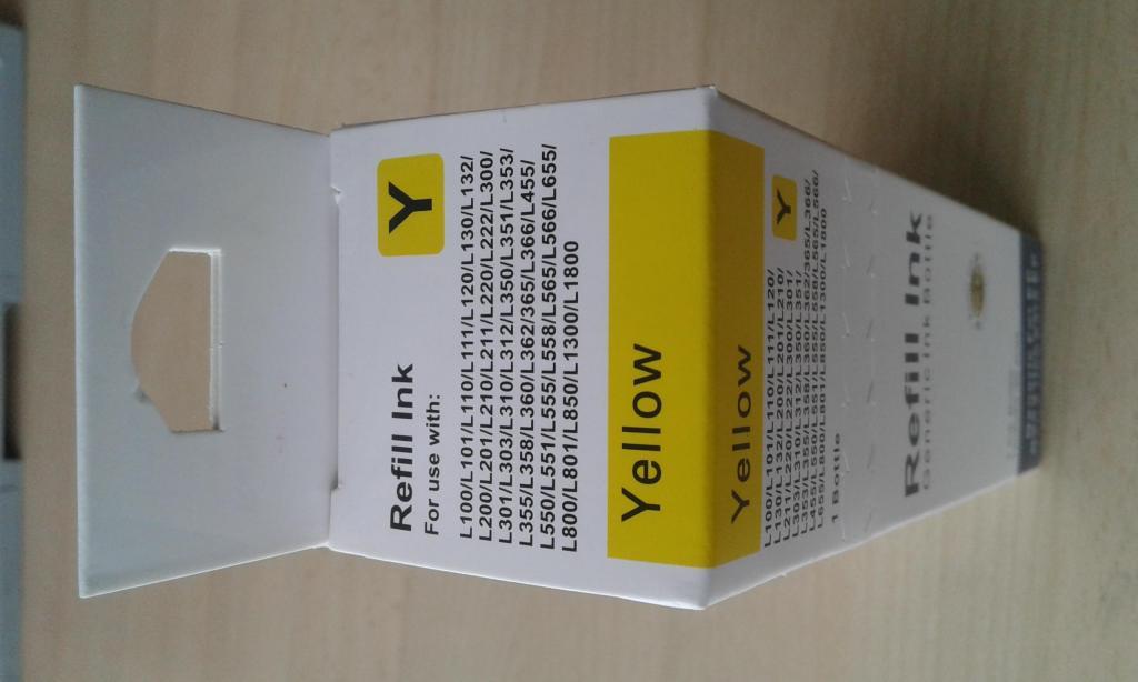 Tinta Para Epson L200/l210/l355/l455/l555 Generica