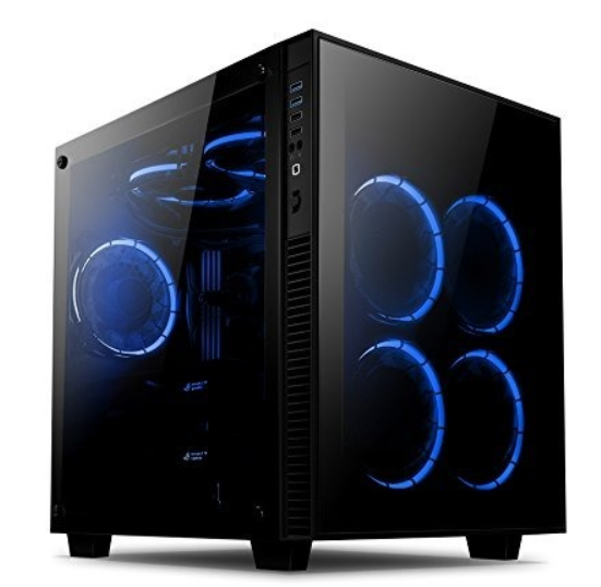 Torre Gamer Case Pc Anidees Rgb Vidrio Cristal Templado Cube