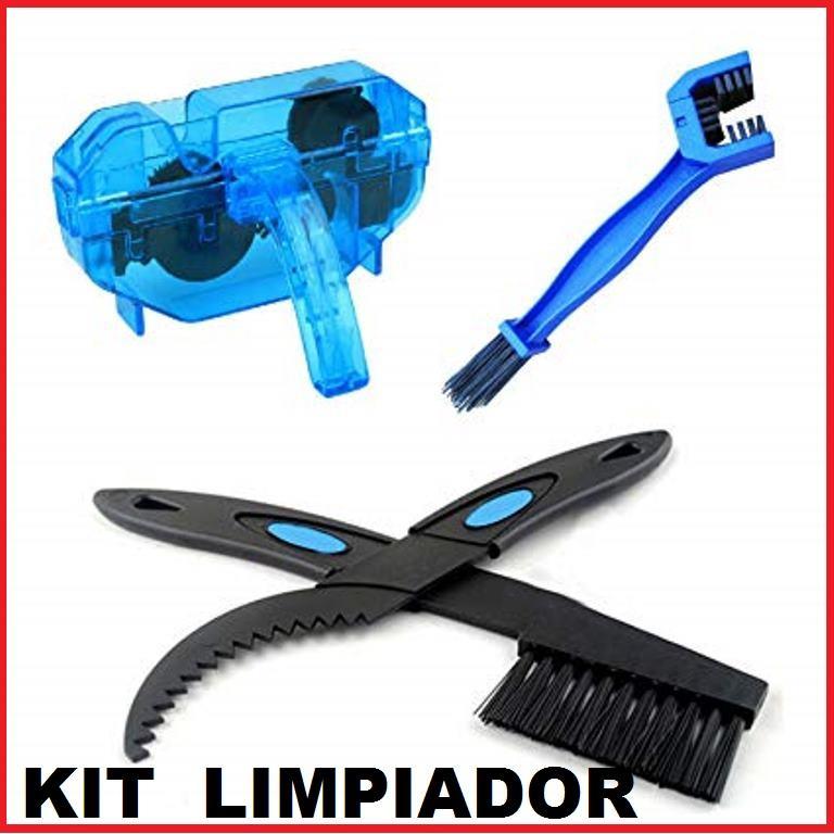 accesorios bicicleta kit cepillos para cadena LIMPIADOR DE