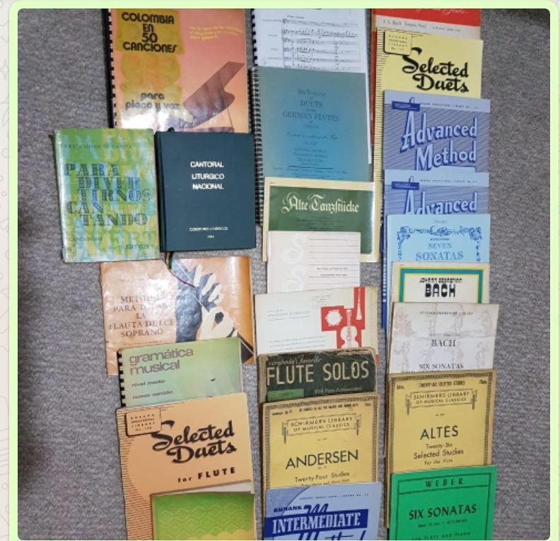 Partituras para flauta, métodos y gramática musical