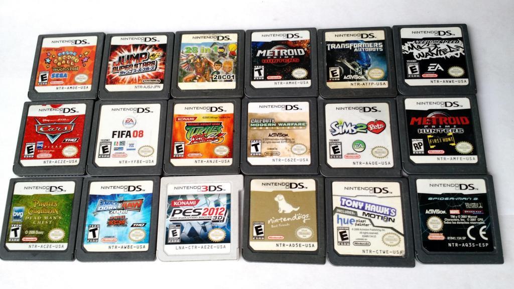 Cartuchos para nintendo DS y 3DS