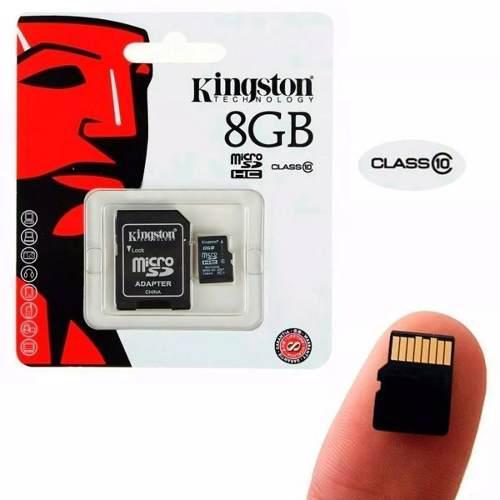 Memoria Micro Sd 8gb Clase 10 Kingston Original+adaptador