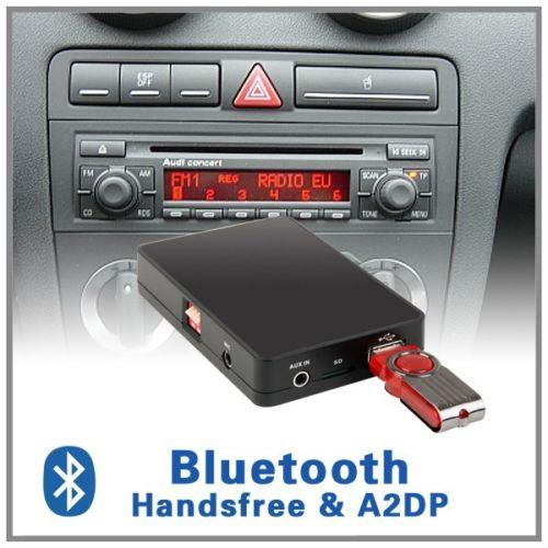 Adaptador Bluetooth Manos libres A2DP CD Changer Audi A2 A3